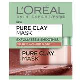 L'Oreal Pure Clay Mask: Exfoliating & Smoothing Red Algae Mask 50 mL