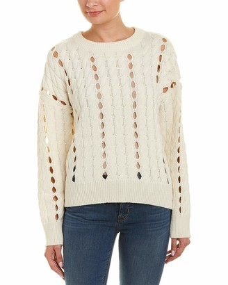 EVIDNT Women's Open Cable Knit Sweater Top