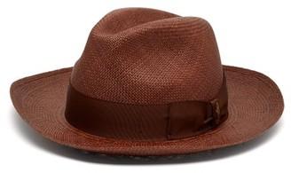 Borsalino Quito Panama Straw Hat - Mens - Brown