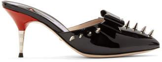 Gucci Black Spike Sade Heels