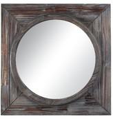 Lazy Susan 24 in. Reclaimed Wood Mirror