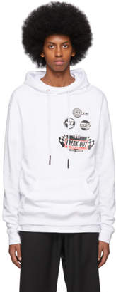 McQ White Rubber Patch Hoodie