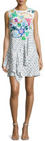 Peter Pilotto Sleeveless Floral Ruffled Dress, White