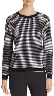 Max Mara Colle Houndstooth Sweater