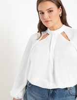 ELOQUII Cut Out Neckline Blouse