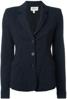 Armani Collezioni textured button blazer - women - Polyester/Spandex/Elastane/Viscose - 42
