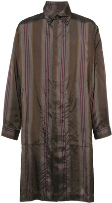 UMA WANG Metallic Striped Shirt-Style Coat