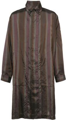 UMA WANG striped shirt coat