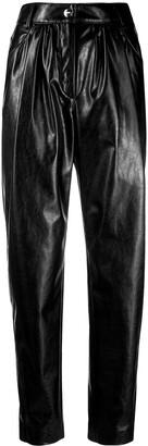 MSGM Palazzo Matte Black Trousers