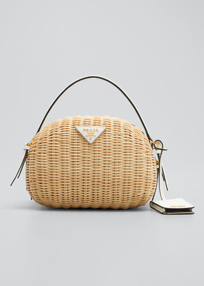 Prada Midollino Odette Top Handle Bag