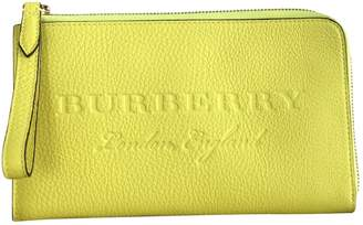Burberry Yellow Leather Wallets