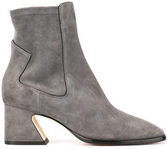Alberta Ferretti Pull-On Chunky Heel Boots