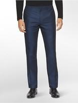Calvin Klein Premium Slim Fit Linen Blend Dobby Pants