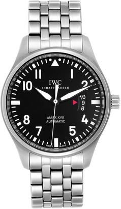 IWC Black Stainless Steel Pilots Mark XVII Automatic IW326504 Men's Wristwatch 46 MM