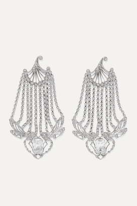 Paco Rabanne Silver-tone Crystal Earrings - one size