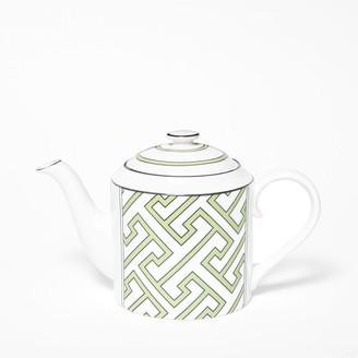 O.W. London Maze Apple Green/White Teapot