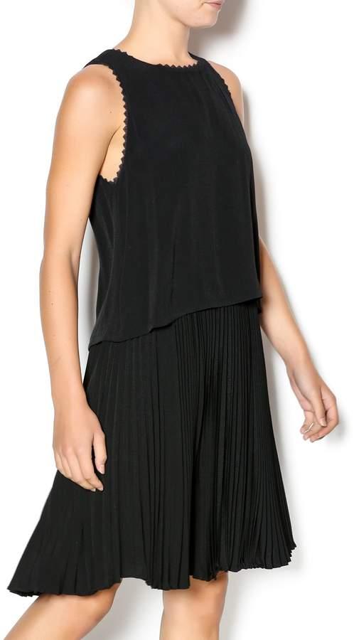Rebecca Taylor Crepe Pleat Dress