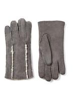 Shearling Gloves In Grey