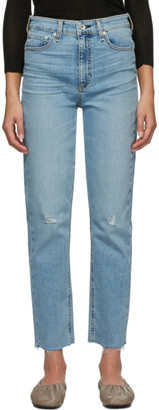 Rag & Bone Blue Nina Ankle Cigarette Jeans