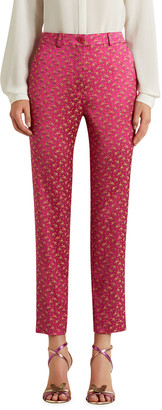 Etro Jacquard Printed Cropped Straight-Leg Pants