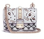 Valentino 'Rockstud Lock' mini beaded leather chain bag