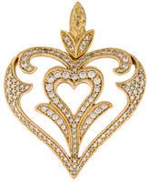 Hellmuth 18K Diamond Heart Pendant