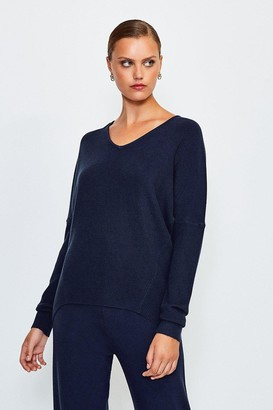 Karen Millen Knit Soft Yarn V Neck Jumper