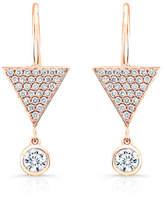 Rahaminov Diamonds Pave Diamond Triangle Drop Earrings in 18K Rose Gold