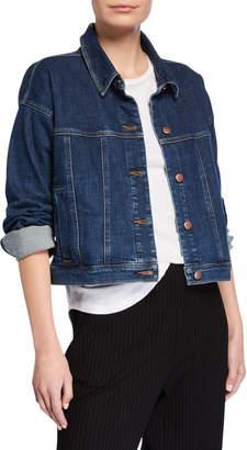 Eileen Fisher Cropped Jean Jacket