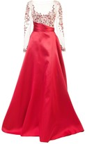 Marchesa Empire Line Flared Dress