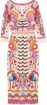 Temperley London Chimera Embroidered Tulle Midi Dress - UK6