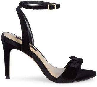 Ava & Aiden Charlee Velvet Bow Slingback High-Heel Sandals