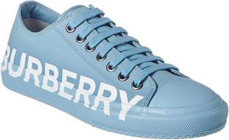 Burberry Logo Print Gabardine Sneaker