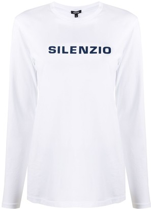Aspesi Long-Sleeved Logo T-Shirt