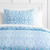 Pottery Barn Teen Watercolor Mosaic Duvet Cover, Full/Queen, Periwinkle Blue
