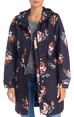 Joules Loxley Peony Print Raincoat
