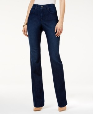 Style&Co. Style & Co Petite Tummy-Control Straight-Leg Jeans, Petite & Petite Short, Created for Macy's