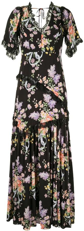 Needle & Thread Floral-Print Maxi Dress