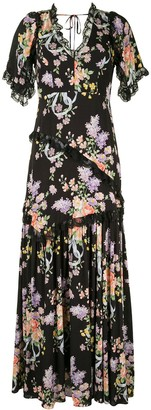 Needle & Thread Floral-Print Maxi Dress