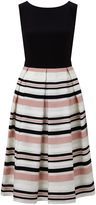 Ariella Peach Stripe Prom Dress