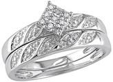 1/10 CT. T.W. Diamond Bridal Ring Set in Sterling Silver (GH I2-I3)