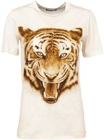 Balmain tiger print T-shirt - women - Cotton - 40