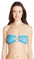 Reef Women's Zen and Zag Bandeau Bikini Top with Macrame Back Detail