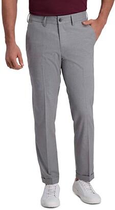 Kenneth Cole Reaction Heather Stripe Drawstring Slim Fit Flat Front Flex Waistband Dress Pants (Indigo) Men's Dress Pants