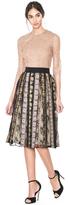 Alice + Olivia Birdie Embroidered Midlength Full Skirt