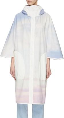 Army by Yves Salomon 'Bachette' sky dye windbreaker coat