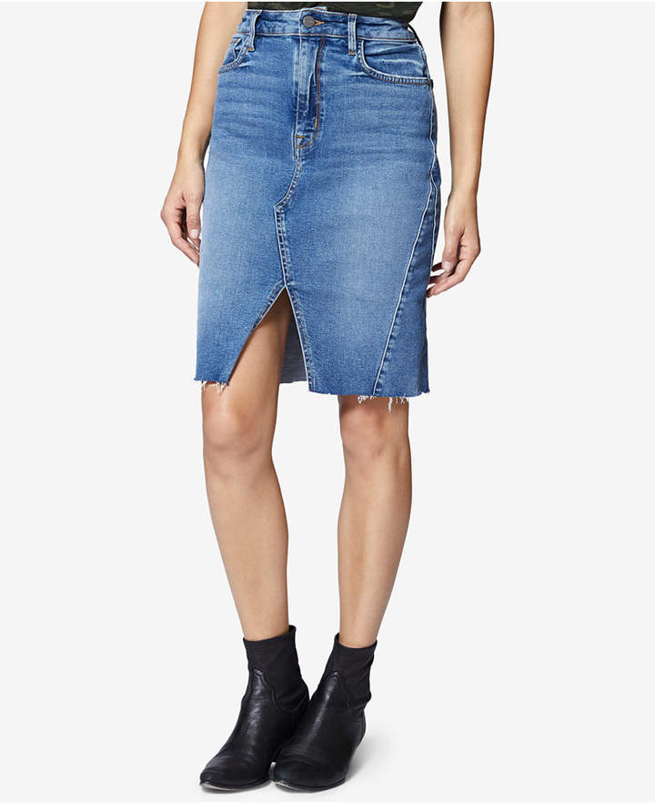 Sanctuary Sia Front-Slit Denim Skirt