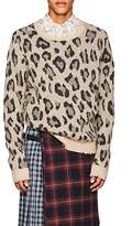 R 13 Men's Leopard-Print Cashmere Sweater