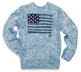 Ralph Lauren Toddler's, Little Boy's & Boy's Indigo Flag Crewneck Sweater