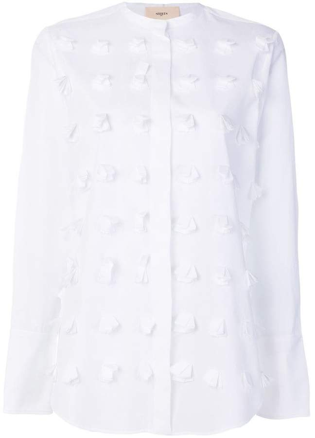 Ports 1961 textured collarless shirt
